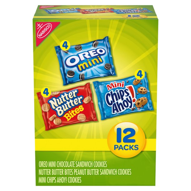Nabisco Mini Chips Ahoy!, Nutter Butter Bites, & Mini Oreo Varity Snack Pack, 1 Oz., 12 Count