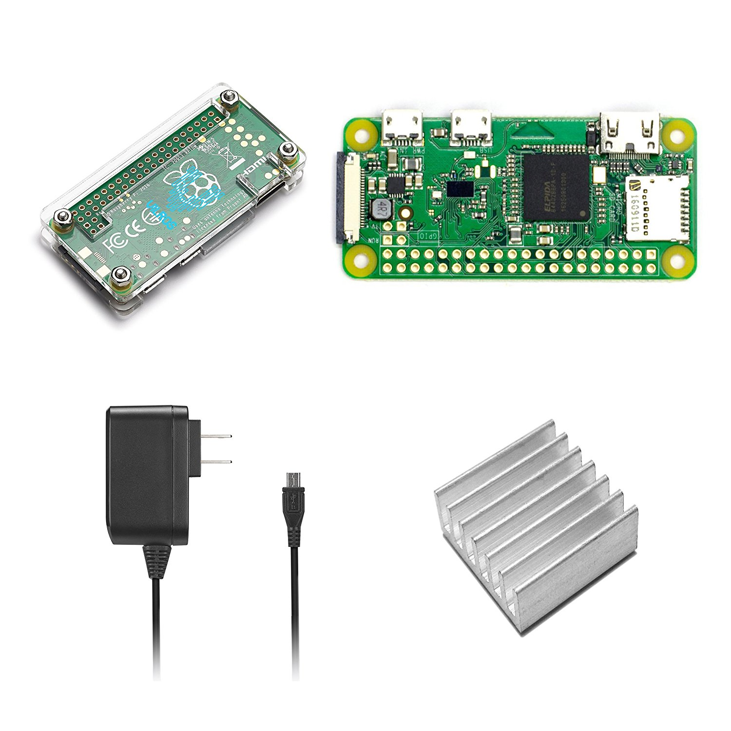 Raspberry PI Zero Wireless Basic Starter Kit - Walmart com