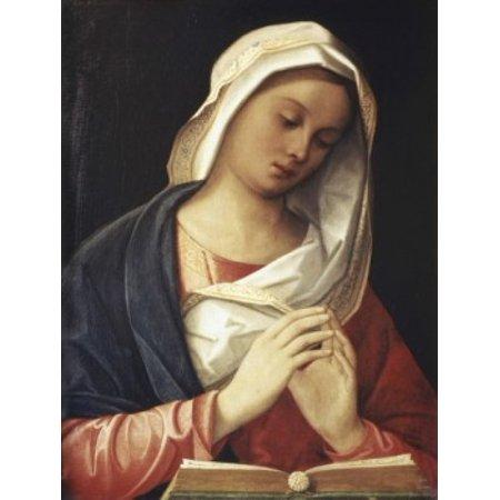 Posterazzi Madonna in Prayer 16th C Artist Unknown Canvas Art - (24 x 36)