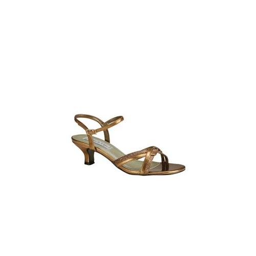 Touch Ups Melanie Womens Bronze Sandals 9.5 M by