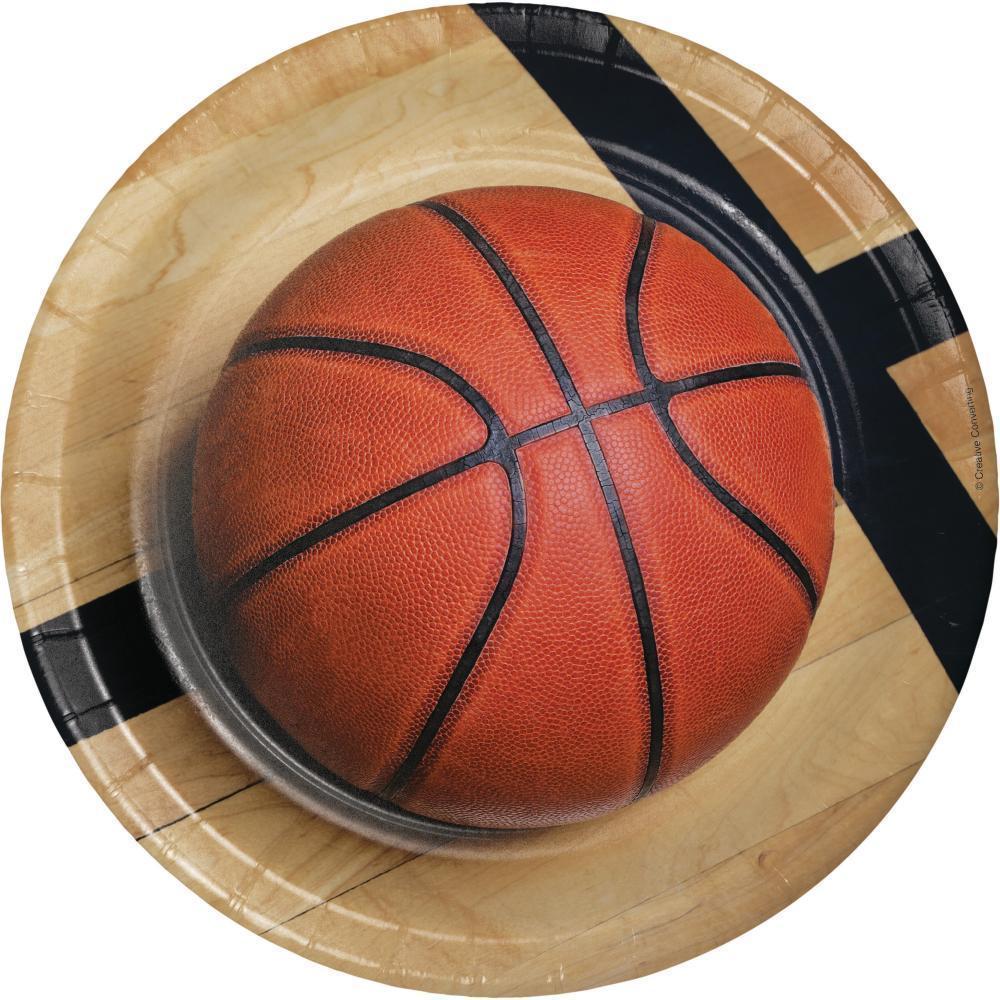 Creative Converting Basketball Paper Plates, 8 ct