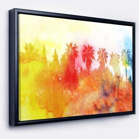 Design art designart abstract tropical landscape abstract framed canvas painting walmart com
