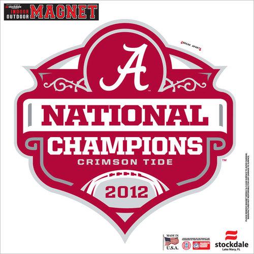 NCAA - Alabama Crimson Tide 2012 BCS National Champions Logo 12x12 Magnet