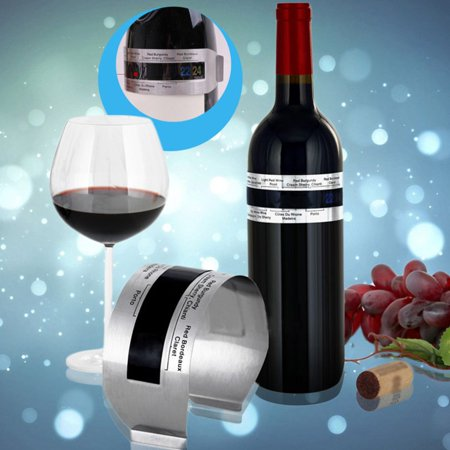 Holiday Clearance 2Pack Stainless Steel LCD Electric Red Wine Digital Thermometer Meter 4-24 Degree Celsius Temperature Range