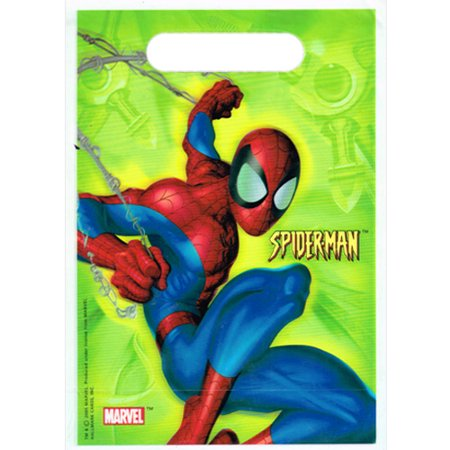 Spiderman Birthday Favors (Spider-Man Green Favor Bags)
