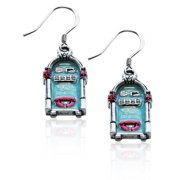 Whimsical Gifts 2791S-ER Jukebox Charm Earrings in Silver