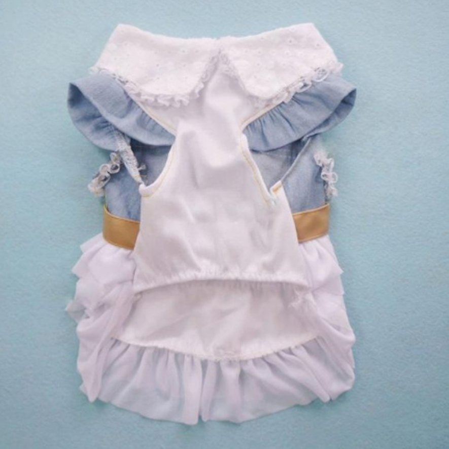 e84885f1a9a0 Fashion Cute Dog Wedding Dress Skirt Summer Luxury Princess Pet ...