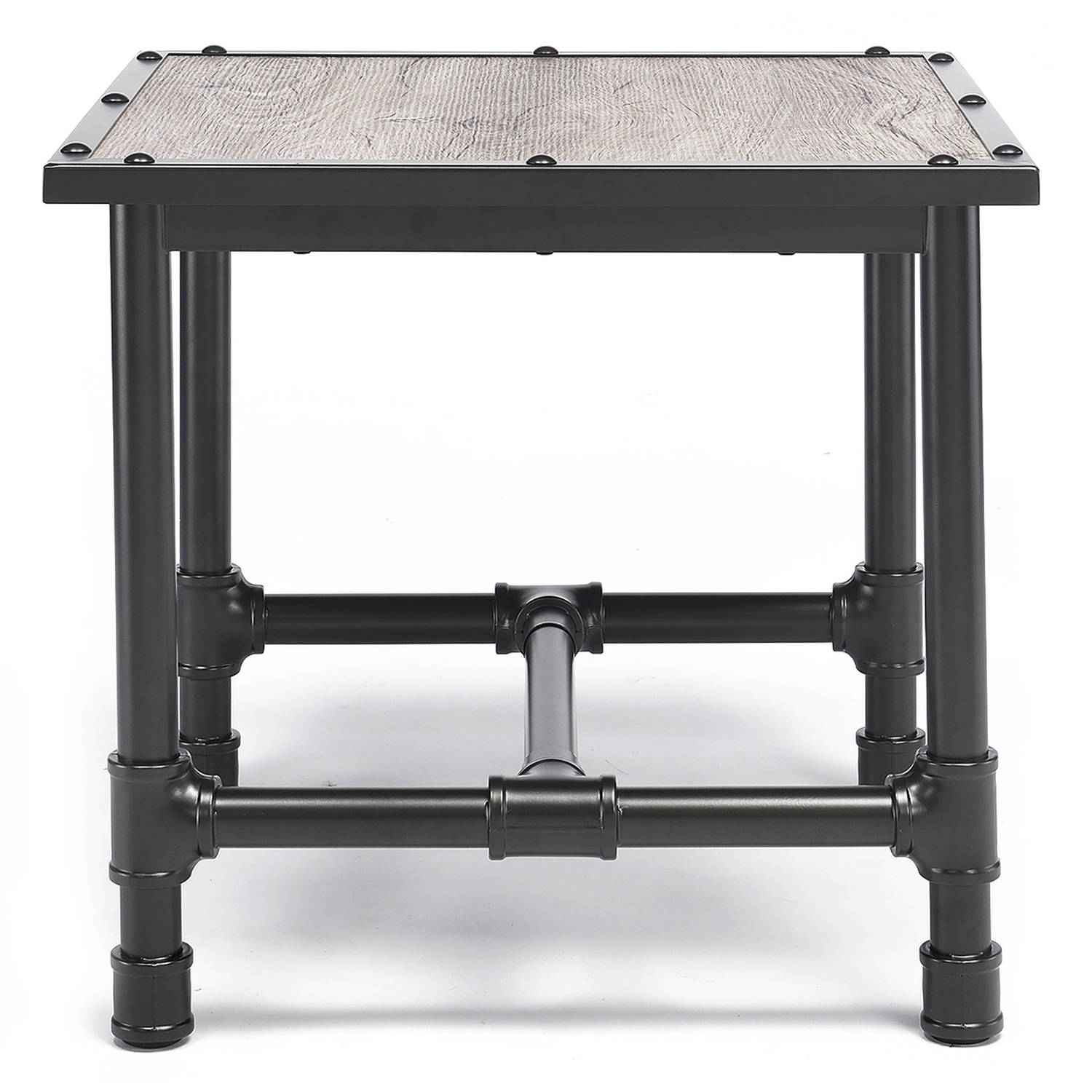 ACME Caitlin End Table, Rustic Oak and Black by Acme Furniture