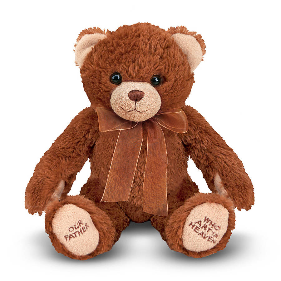 Melissa & Doug Lord's Prayer Bear - Stuffed Animal With Sound Effects
