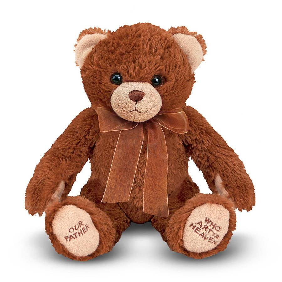 Melissa & Doug Lord's Prayer Bear - Stuffed Animal With Sound Effects
