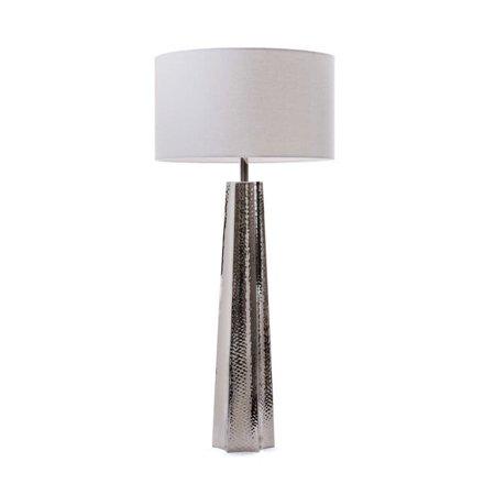 Hip Vintage Hammered Nickel Table Lamp (Hammered Nickel Table)
