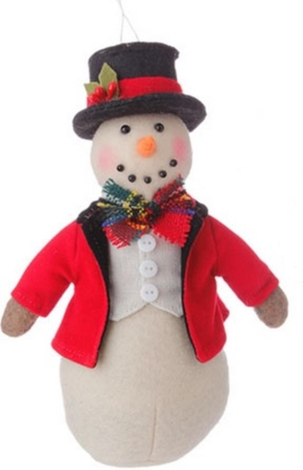 "7"" Christmas Traditions Holiday Snowman Christmas Table Top Decor Ornament"