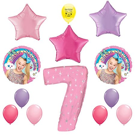 JoJo Siwa Party Supplies 7th Birthday Balloon Decoration Kit