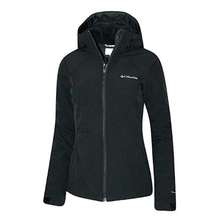 Columbia Women's Alpine Fir Windproof Fleece Lined Softshell Hooded Jacket (S, Black) Columbia Ladies Fleece