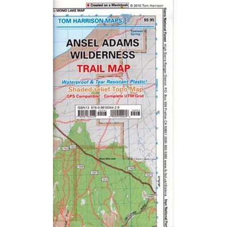 Tom Harrison Maps: Ansel Adams Wilderness Trail Map: Shaded-Relief Topo Map (Other) (Topo Maps Utah)