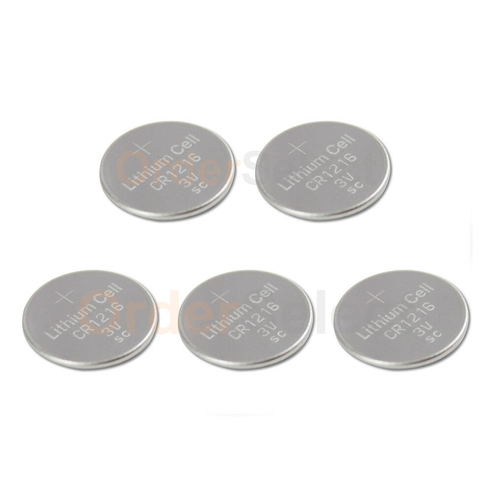 CR1216 1216 Battery Key Fob Remote 5-Pack