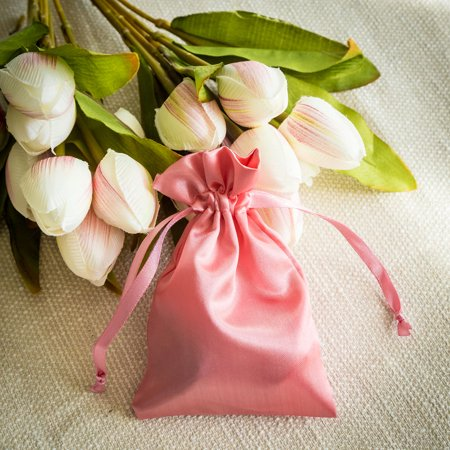 BalsaCircle 12 pcs 4x6 inch Satin Favor Bags - Wedding Party Favors Jewelry Pouch Candy Gift Small Bags