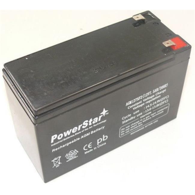 PowerStar AGM1275F2-59 Sealed Lead Acid Batteries, Abs, Faston Battery, 7.5Ah
