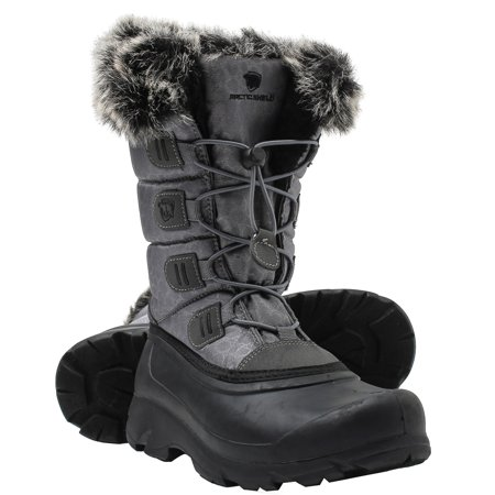 ArcticShield Women's Polar Waterproof Insulated Cold Rated Winter Snow Boots Insulated Combat Boot