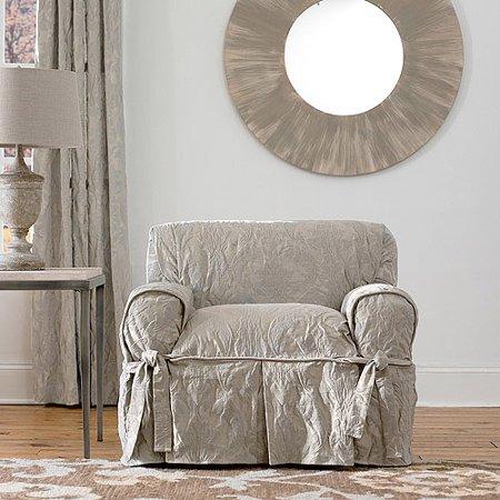 Sure Fit Matelasse Damask Chair Cover Walmart Com