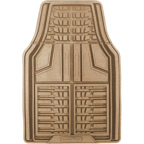 Goodyear 2pc Premium Rubber Floor Mats, Tan