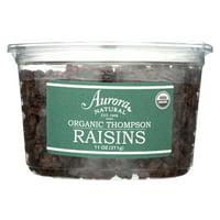 Aurora Natural Products - Organic Thompson Raisins - Case of 12 - 11 oz.