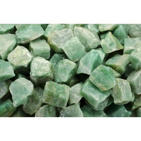 Fantasia Crystal Vault: 1 lb Green Aventurine Rough Stones from Asia -  Large 1