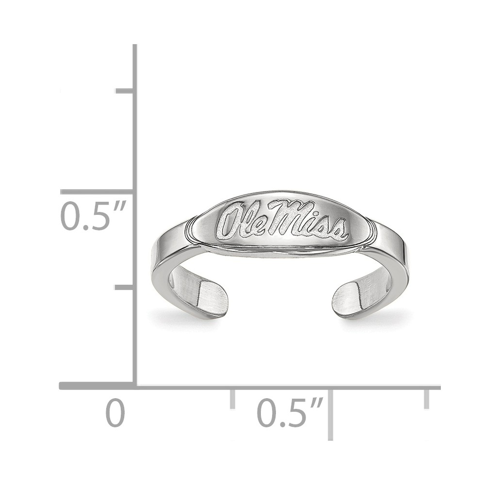 Sterling Silver University of Mississippi Toe Ring by LogoArt