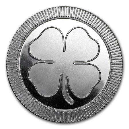 1 oz Silver Round - Four Leaf Clover (Silver Four Leaf)