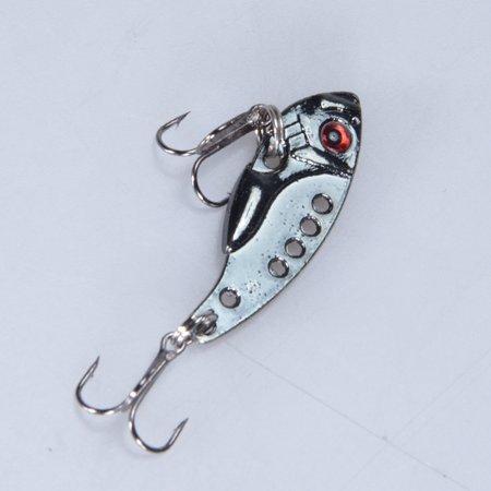 3D Eyes Metal VIB Fishing Lure Bass Crankbait Fishing Spinner Blade Golden - image 7 de 8