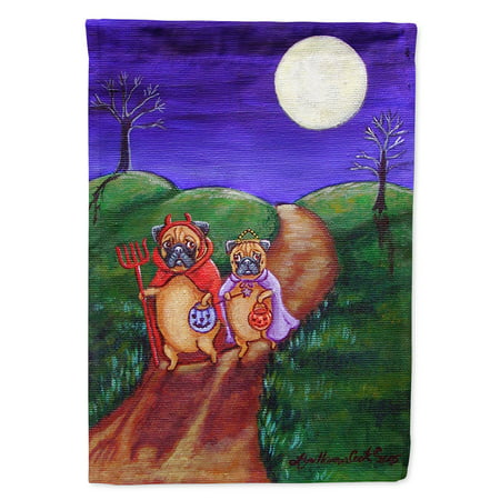 Trick or Treat Halloween Pug Garden Flag (Halloween Pugs)