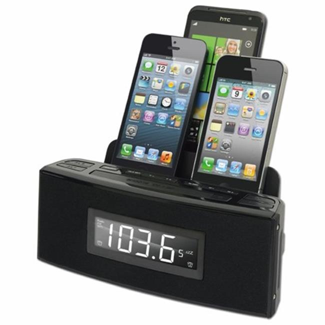 Dok CR18 3 Port Smart Phone Charger with Speaker and Alarm Clock