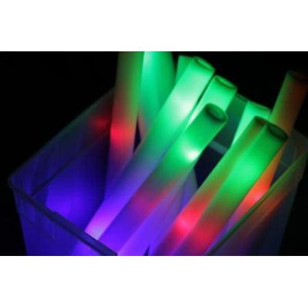 LWS LA Wholesale Store  100 PCS Light Up Foam Sticks LED Wands Rally Rave Batons DJ Flashing Glow - Foam Light Sticks