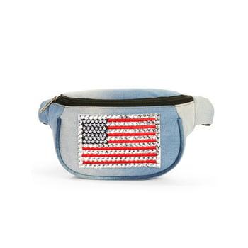Twig & Arrow USA Denim Belt Bag