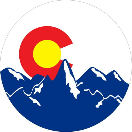 Colorado Mountain Flag Spare Tire Cover Designer Tire Cover Flag