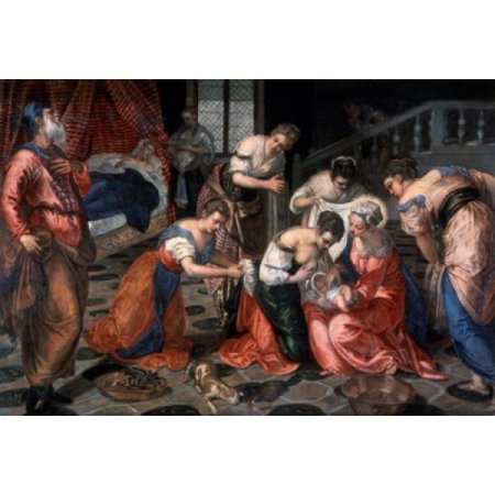 The Birth Of John The Baptist Jacopo Tintoretto (1518-1594 Italian) Hermitage Museum...