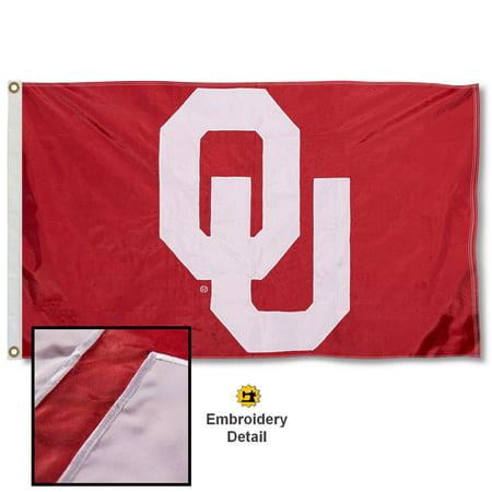 - OU Sooners 3' x 5' Nylon Embroidered Flag