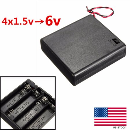 4x AA 6V Battery Holder Connector Storage Case Box ON/OFF Switch W/ Lead Wire US - image 6 of 6