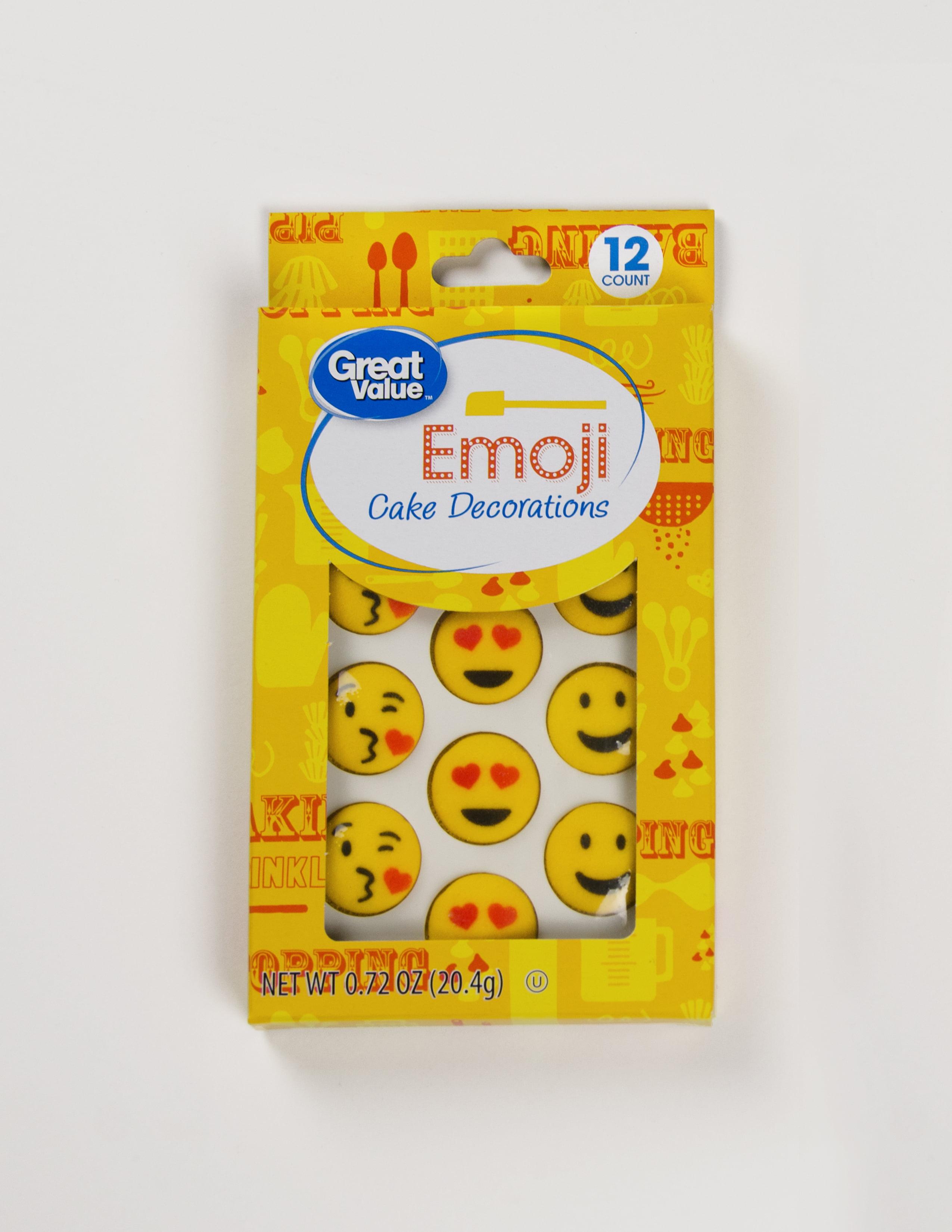 Great Value Cake Decorations Emoji 12 Count Walmartcom