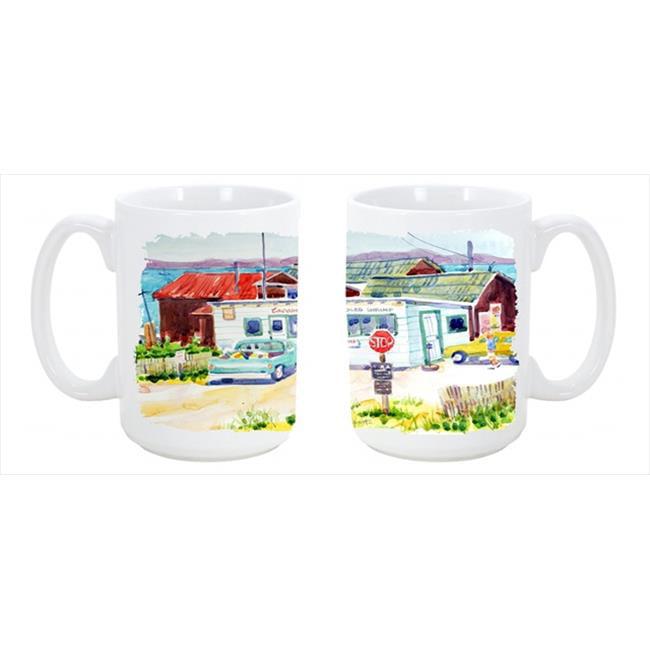 Seafood Shack for fresh shrimp Dishwasher Safe Microwavable Ceramic Coffee Mug - image 1 de 1