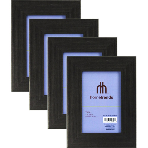 Hometrends Brushed Pewter Tone 4x6 Picture Frame, Set of 4