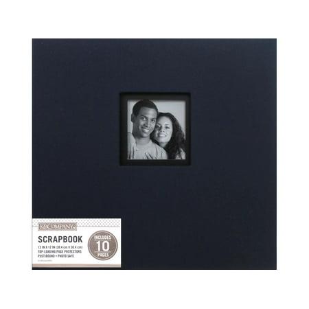 K&Co Scrapbook 12x12 Window Fabric Navy