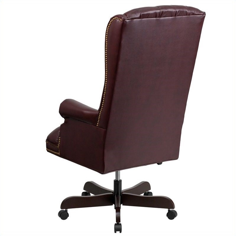 Scranton & Co Traditional Upholstered Executive Office Chair in Burgundy - image 2 de 4