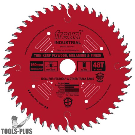 Freud LU79R006M20 160mm Thin Kerf Plywood and Melamine Saw Blade Carbide Tooth Thin Kerf Wood