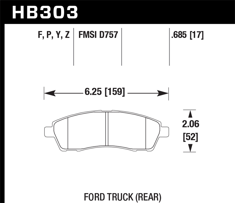 Hawk Performance HB590P.682 SuperDuty Brake Pad