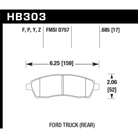 Hawk Performance HB303Y.685 LTS Series Brake Pad - image 2 de 2