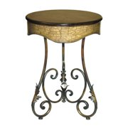"Sterling Industries 26-0247 22"" Width Round Curled Leaf Table"