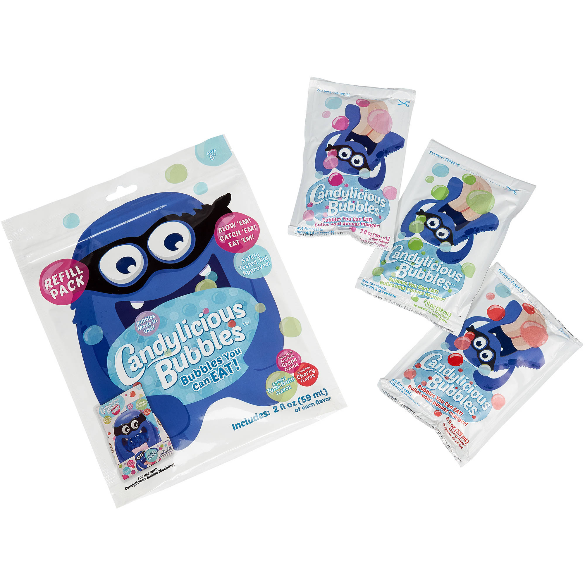 Little Kids Inc. Candylicious Bubble Machine Refill, 3-Pack