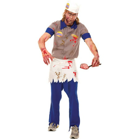 Zombie Zone Brain Burger Adult Halloween Costume (Tina Halloween Costume Bob's Burgers)