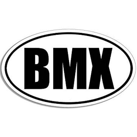 Oval BMX Sticker Decal (bike race biking decal) Size: 3 x 5 inch - Bike Race Halloween 5